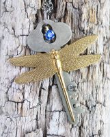Steampunk DragonFly Key by clockwork-zero