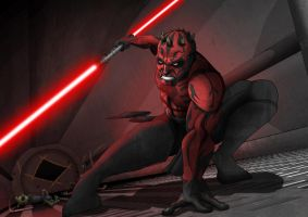 Darth Maul by nick-tyrrell