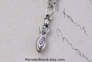 Spiral Goddess Necklace by MonsterBrandCrafts