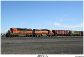 BNSF 2804 and 2185 by hunter1828