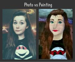 .:Photo vs. Painting comparison:. by TheShadowRaven