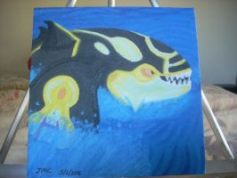 Shiny Primal Kyogre canvas painting by dragontamer272