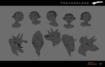 Featherless: Saagon and Atukybo expressions by Silvac