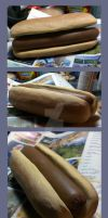 Hot Dog MADE OF CLAY by KarolinaSkaUniverse