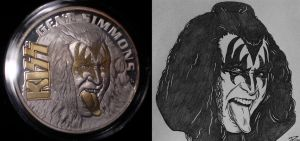 Gene Simmons Coin with Artwork by Mr-Mordacious
