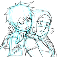 FREE SKETCH - OC Boy and Girl by chiyokins