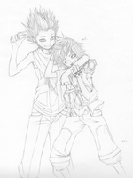 +Lea and Ventus+ by taka-maple