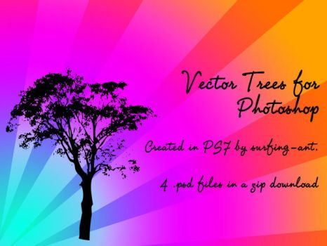 Vector Trees for Photoshop by surfing-ant