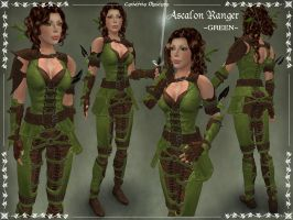 Ascalon Ranger Armor -GREEN- by Elvina-Ewing