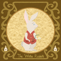 Wonderland Bestiary - White Rabbit by purpledragon42