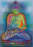Rainbow Buddha, 2009 by leavingsosoon