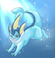 +Vaporeon+ by Sprinkling-stars