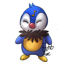Piplup/Chatot by FrightFox