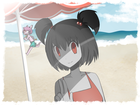 Postcard from the beach! by Jennifer-The-Boulder