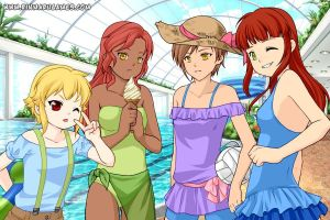 Takuma, Sue, Mallery and Jena by Animenekoyoailover