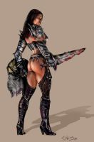 Female Warrior by TomHering