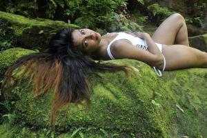 Saba - white on moss 5 by wildplaces