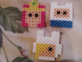 Adventure Time Perler Beads 1 by RyuuRikkiProductions