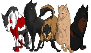 The Pack WIP by alpha-wolf-crow