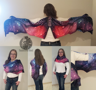 Space dragon wing scarf by Dreamtraveller
