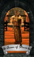 Skyrim Tarot - Queen of Staves by Whisper292