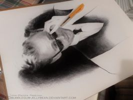 WIP Ballpoint Tom Hiddleston by Bubblegum-Jellybean