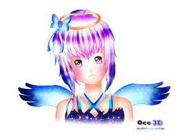 Angel of Day and Night by Oce3D