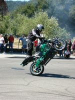 Stunt Riders at Car Show - 6 by RoadTripDog