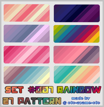 PATTERN SET 007 - Rainbow by AndreeaArsene