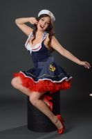 Stock:  Celeste as Sexy Sailor Pinup by ArtReferenceSource