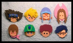 Pins - Digimon Adventure by GwydionAE