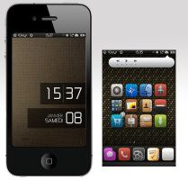 My lockscreen and springboard by 4drey