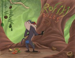 Rafiki rules by Myza-Lioness