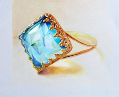 Ring - Colored pencil by f-a-d-i-l
