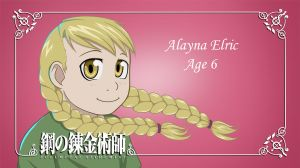 Alayna Elric - Name Card by FLASOK