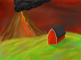 Active Volcano by Moosader