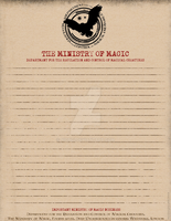 Regulation Control of Magical Creatures Stationery by Niongi