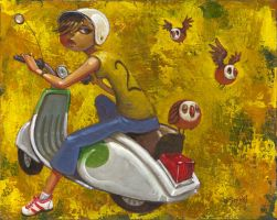 Scooter Birds by jasinski