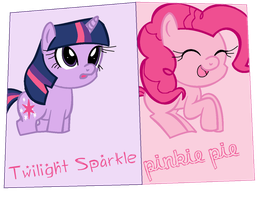 Pinkie and Twilight Cards by ChickenNuggetGalaxy