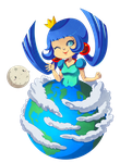 Chibi Earth by Willow-San