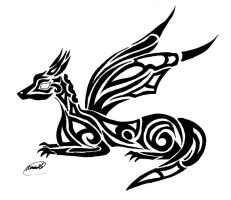 Dragon -Tribal- by fallowsingerwolf