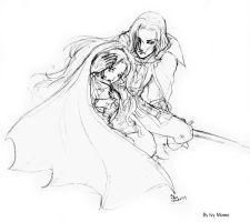 Alucard and Maria by IvyMomo