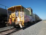 Yellow and Green Caboose by roaklin