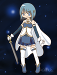 The Blue Knight - Sayaka Miki by iZelda27