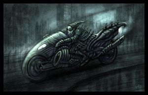 Giger Bike by Jakdaw