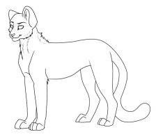 Free lineart Cheetah by WingsandFeathers
