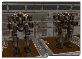 Dervish's in the mechbay ready for deployment by BLaaR75