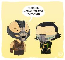 Bane vs Loki by AndrewKwan