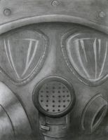 Gas mask by honorhunt