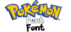 Pokemon Font by 3nEedxx